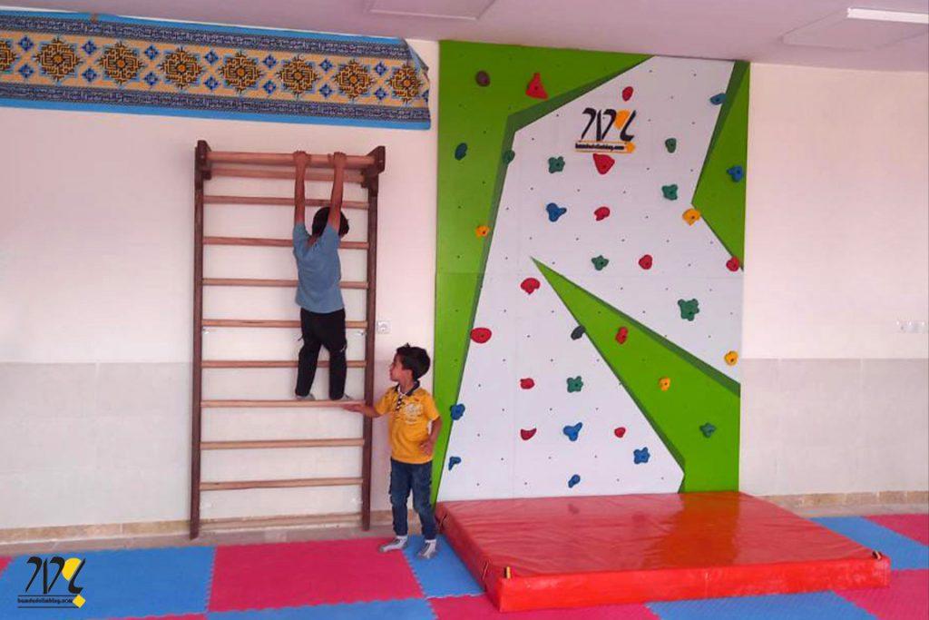 دیواره سنگنوردی مدرسه حضرت مریم نائین